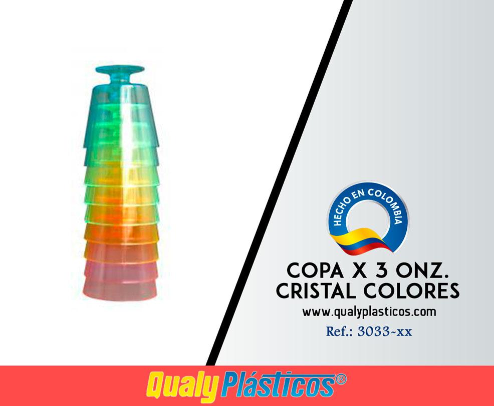 Copa x 3 Onz. Cristal Colores Image